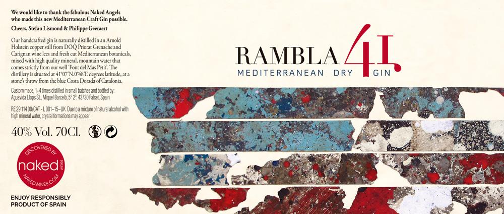 Etiqueta Rambla 41Dry Gin